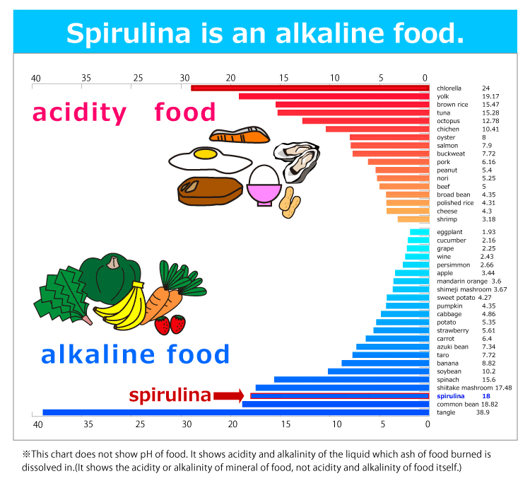 Spirulina is an alkaline food